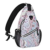 MOSISO Mini Sling Backpack,Small Hiking Daypack Pattern Travel Outdoor Sports Bag, National Style