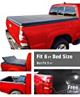 MaxMate Premium TriFold Tonneau Truck Bed Cover For 05-15 Nissan Frontier 6 feet (with/without utility track); 09-12 Suzuki Equator 6 feet (72 inch) Box Trifold Truck Cargo Bed Tonno Cover (NOT For Stepside)