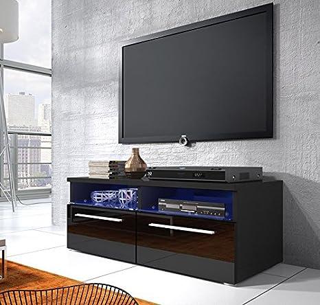 Muebles Bonitos - Mueble TV modelo Elene negro con led