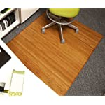 Anji Mountain Bamboo Chairmat & Rug Co. Tri-Fold Bamboo Chairmat, 47-Inch-by-60-Inch, 12mm Thick, No Lip, Natural