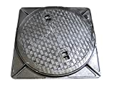 鋳鉄製 マンホール 浄化槽フタ 6t荷重マンホール (蓋枠セット) 穴径600mm (フタ径650mm) MK-6-600