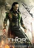 """Foto mit Autogramm von Tom Hiddleston aus """"Thor - The Dark World"""", 30,5x15,2cm"""
