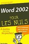 Word 2002 Poche Pour les Nuls