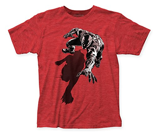Marvel Black Panther Shadow Mens Red Heather T-shirt M (Black Marvel compare prices)