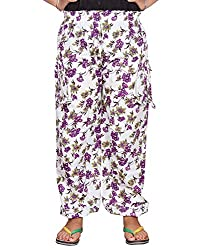 Bright & Shining Women Purple Flower Cotton Pyjama