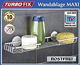 WENKO TurboFIX Wandablage Maxi - Aluminium - 45 x 12
