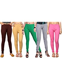 Comix Cotton Hosiery Fabric Women Legging Combo Set Of 5 - B01KOBU9Q4