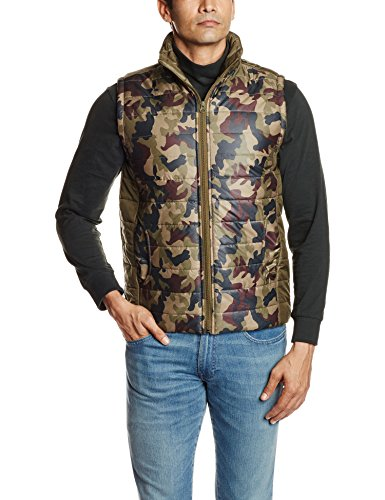 People Men's Polyester Jakcet (8903880908867_P10102118515711_M _Military)
