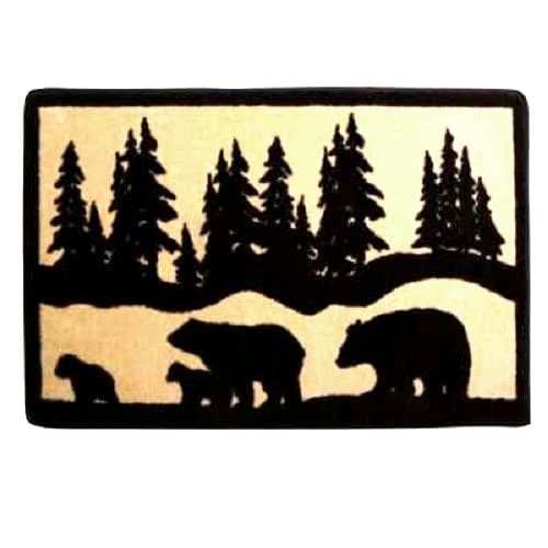 Amazing Black Bear Silhouette Home Bath Rug Mat 500 x 500 · 32 kB · jpeg