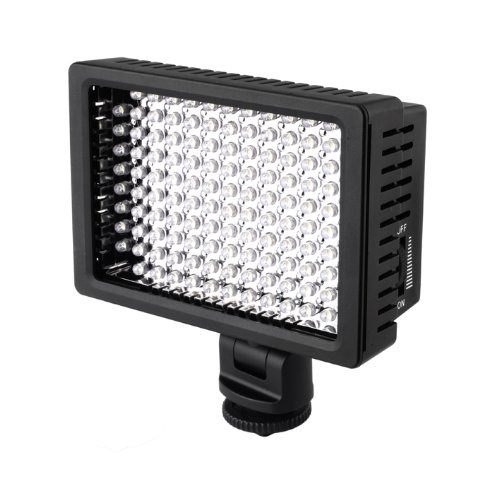 Fotga Hd-160 Led Camera Video Dv Camcorder Hot Shoe Light For Canon Nikon Pentax