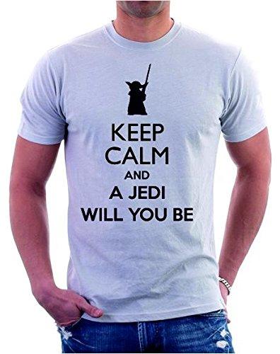 Tshirt Keep Calm and a Jedi will you be- star wars S M L XL XXL uomo donna maglietta by tshirteria