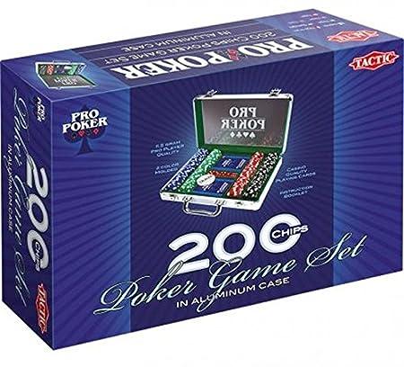Tactic - 03090 - Poker - Propoker : Mallette Métal 200 Jetons