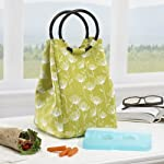 Retro Insulated Designer Lunch Bag with Ice Pack
