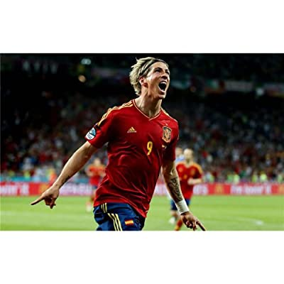 Fernando Torres Poster by Silk Printing # Size about (56cm x 35cm, 22inch x 14inch) # Unique Gift # 5BFA49