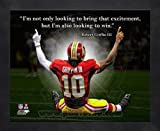 Robert Griffin III Washington Redskins 8x10 Black Wood Framed Pro Quotes Photo