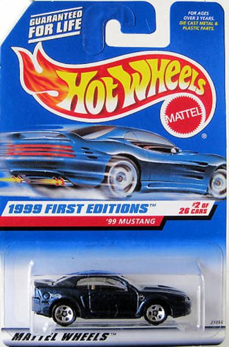 1999 First Editions #2 1999 Mustang Purple 3-Spoke Wheels #909 Collectible Collector Car Mattel Hot Wheels - 1