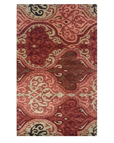 Moti-Meva Belize Wine Hand Tufted Rug, Wine, 5′ x 8′