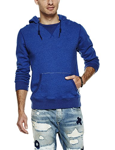 Scotch & Soda Home Alone Hoody, Felpa Uomo, Blau (Indigo 51), Medium