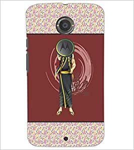 PrintDhaba Chinese Fighter D-3176 Back Case Cover for MOTOROLA MOTO X2 (Multi-Coloured)