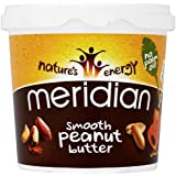 Meridian Natural Smooth Peanut Butter With No Added Salt 1 Kg (Pack of 2)