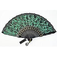 [アナスイ]ANNA SUI バタフライ&フラワー が素敵な 扇子 専用箱付/グリーン