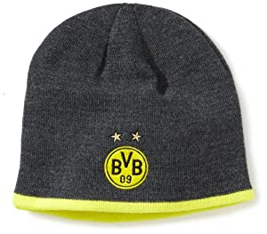 PUMA Herren BVB Mütze Beanie, Blazing Yellow/Dark Gray Heather, One size, 743548 02