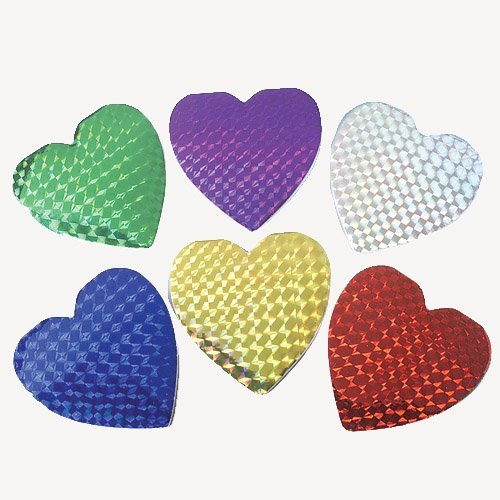 Lot Of 12 Assorted Color Hologram Heart Shaped Mini Notebook Memo Pads