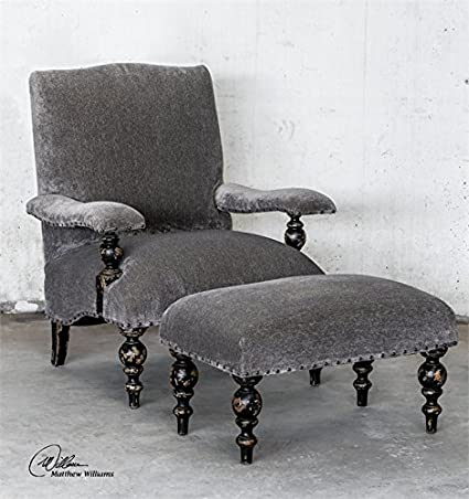 Uttermost Eavan Armchair in Aged Black Finish