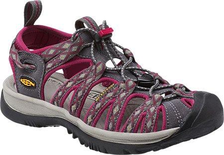 KEEN Women's Whisper Sandal, Magnet/Sangria, 8 M US
