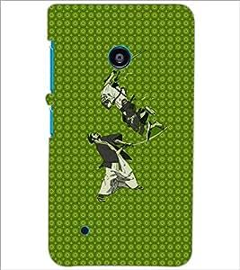 PrintDhaba Warriors D-6004 Back Case Cover for NOKIA LUMIA 530 (Multi-Coloured)