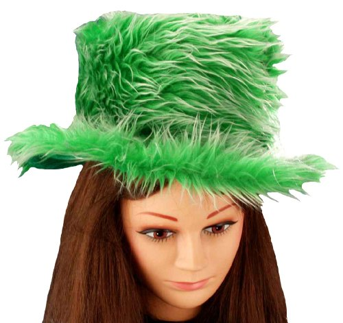 Forum Novelties St. Patrick's Day Costume Top Hat, Plush Green, One Size