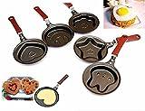 Ainest BU CA New Outdoor Kitchen Non Stick Stainless Steel Frying Pan Cartoon Egg Pot Bear