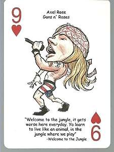 AXL ROSE - Guns n' Roses - ROCK & ROLL Playing Card