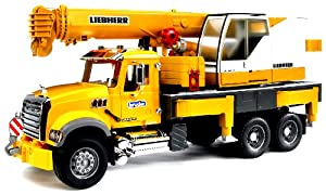 Bruder Mack Granite Liebherr Crane Truck from Bruder