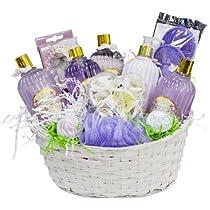 Lavender Gift Basket Luxurious Lavender Spa Gift Basket - Organic Stores