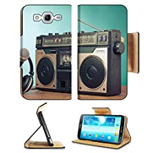 buy Luxlady Premium Samsung Galaxy Mega 5.8 Flip Case Old Retro Radio Cassette Player Headphones Microphone On Table Image 24381924 Pu Leather Card Holder Carrying