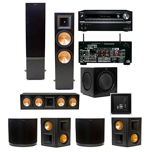 Klipsch Rf-7 Ii 7.1 Home Theater System-Sw-310 (Black) Onkyo Tx-Nr838 7.2