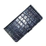 スマイルワールド iPhone6 /6s Premium Leather ケース 本革二つ折り横開きクロコダイルタイプ ブラック SW-LT1502-BK