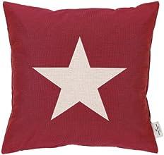Tom Tailor 562247 T-Shiny Star Enveloppe de Coussin Polyester/Coton Rouge 40 x 40 cm