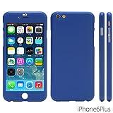 NanoSkin ナノスキン iPhone 6Plus (5.5インチ)アイフォンフルカバーケース カラバリ ブルー ※ 硬度8H液晶保護ガラスフィルム1枚付き