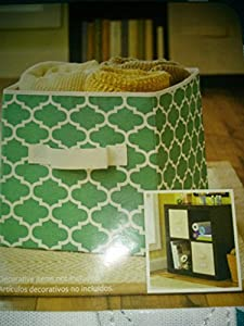Better Homes And Gardens Collapsible Fabric Storage Cube Teal Lattice Set Of 2