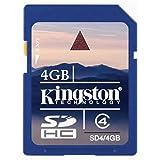 Kingston 4 GB Class 4 SDHC Flash Memory Card SD4/4GBET
