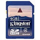 51tjWuvTO3L. SL160  Kingston 4 GB Class 4 SDHC Flash Memory Card SD4/4GBET Reviews