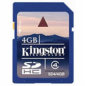 Kingston 4 GB Class 4 SDHC Flash Memory Card SD4/4GBET