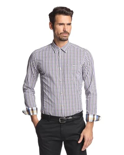 Ted Baker Men's Seattle Checked Woven Shirt