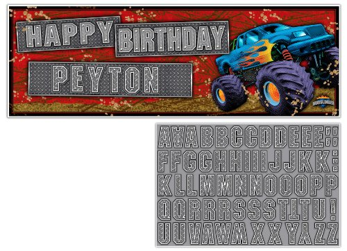Buy Creative Converting Mudslinger Giant Party Banner with Stickers