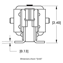 DE-STA-CO 8021 Enclosed Pneumatic Hold Down Action Clamp