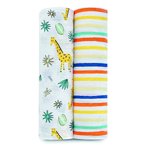 aden + anais Classic Muslin Swaddles 2 Pack - Into The Jungle