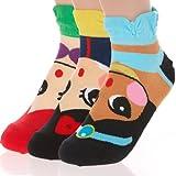 Danischoice Cute Cartoon Character Socks Princess Series (3 Pack)