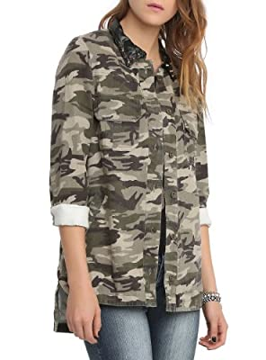 Camouflage Skull Jacket by Hot Topic